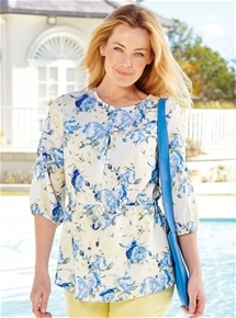 Roses Tunic Top