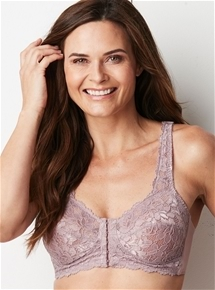 Floral Lace Front Fastening Bra