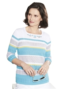 Beaded Stripe Sweater