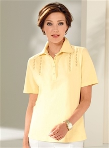 Lace Trim Polo
