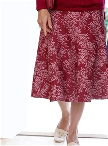 Blossoms Suedette Skirt