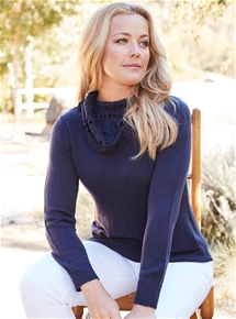 Fancy Roll Neck Sweater