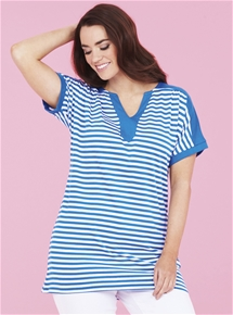 V-Neck Stripe Tee