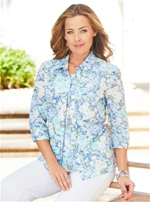 Floral Burnout Blouse