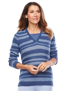 Travel Easy Stripe Sweater