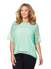 Chevron Lace Top