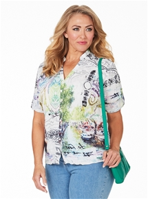 Scenic Printed Blouse