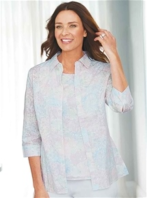 Pastel Burnout Blouse