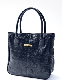 Luxury Leather Croc Design Handbag