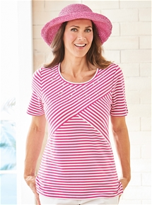 Spliced Stripe Tee