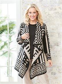 Draped Aztec Cardigan