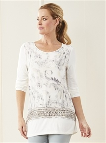 Sabine Print Layer Top