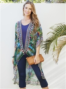 Erika Peacock Kaftan Cover Up