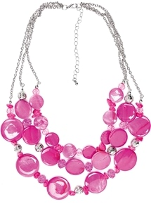 Aimee Multirow Circle Necklace