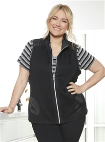 Textured Zip Vest [PLUS SIZE]