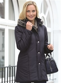 Chic Quilted Hooded Overcoat