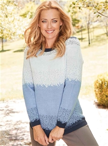 Ombre Spot Sweater
