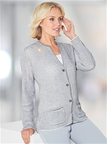 Sequinned Knit Jacket