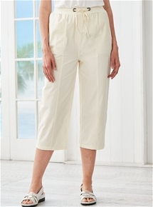 Cotton Crop Pants