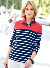 Spots and Stripes Pullover