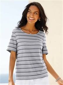 Gradient Stripe Tee