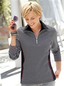 Contrast Panel Stripe Sweatshirt