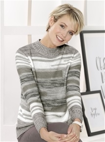 Abstract Stripe Sweater