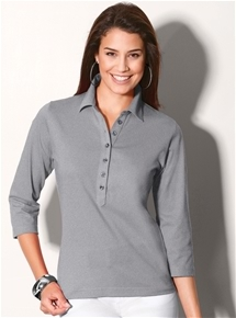 Placket Polo Shirt