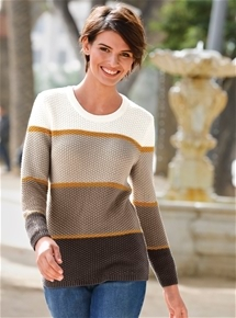 Tonal Stripe Sweater