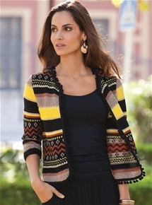 Tribal Stripe Jacket
