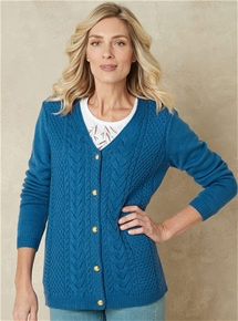 Elegant Cable Cardigan