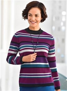 Berry Stripe Sweater