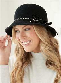 Velour Stud Cloche