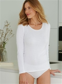 Brushed Fancy Knit Long Sleeve