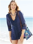 Crochet Trim Beach Cover-up_15S35_0