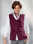 Suedette Button Vest_19Q73_1