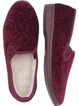 Paisley Velour Slippers_5604_0