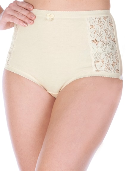 2 Pack Cotton & Lace Briefs