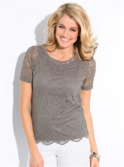 Scallop Lace Top
