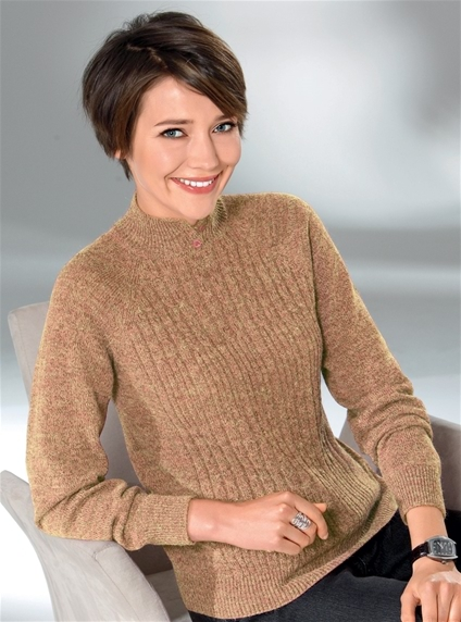 Marle Knit Turtleneck