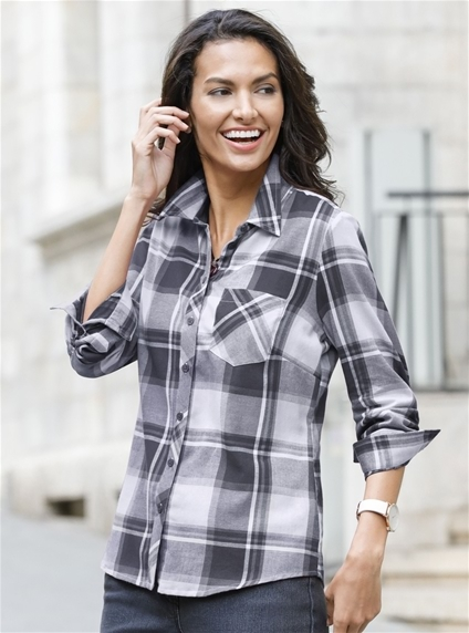 Brushed Flannel Blouse